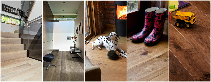 Real wood flooring products
